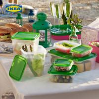 IKEA 宜家 PRUTA普塔冰箱冷冻收纳盒厨房饺子盒专用保鲜盒套装饭盒