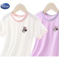Disney 迪士尼 儿童薄款冰丝短袖T恤
