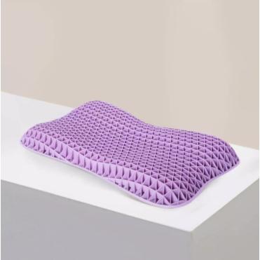 愉悦之家 应力释压颈椎枕 紫色儿童枕