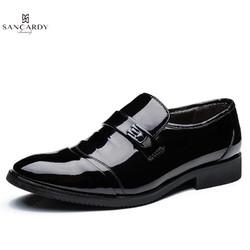 圣吉卡丹 男鞋商务正装皮鞋男春季新款英伦职业装工作男鞋