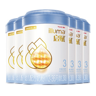 Wyeth 惠氏 蓝钻幼儿配方奶粉3段 1~3岁 900g 共7罐