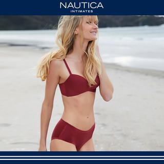 NAUTICA 诺帝卡 Nautica Intimates/诺帝卡女士无钢圈聚拢文胸套装内衣内裤一套女