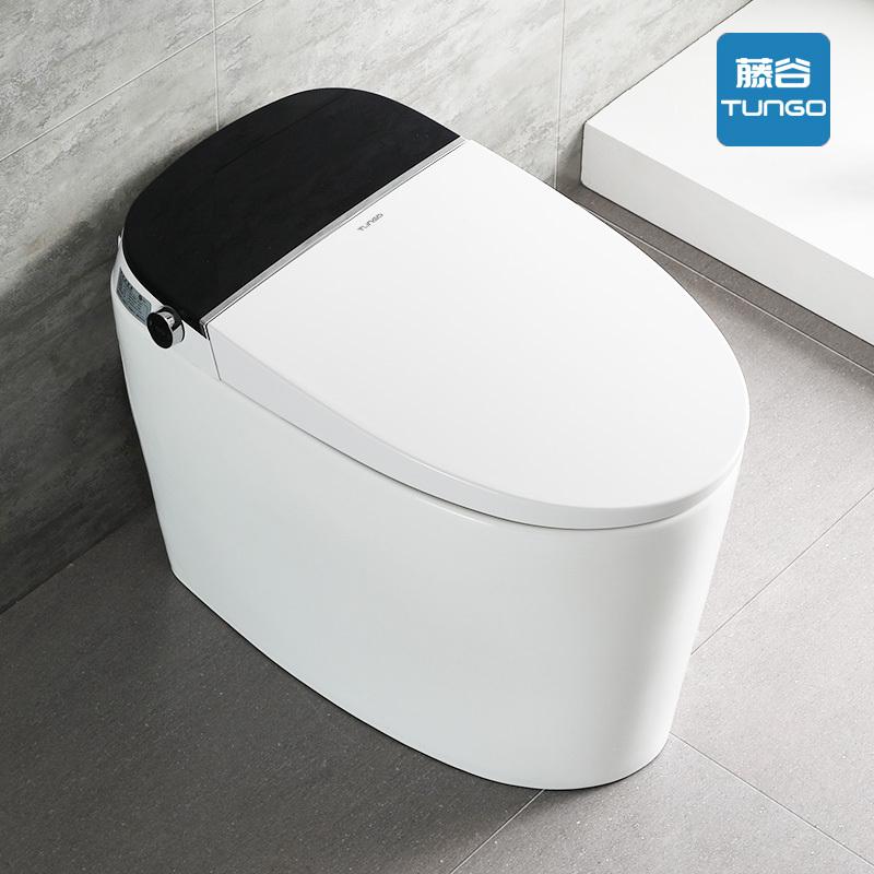 藤谷 日本全自动智能马桶一体式带水箱无水压限制感应翻盖坐便器 T053