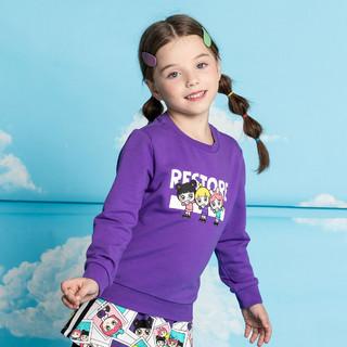 ANTA 安踏 女童卫衣101-130CM小童服春上新休闲运动套头衫上衣 安踏童装