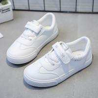 WARRIOR 回力 21新款回力童鞋简约百搭男女童小白鞋魔术贴儿童运动休闲鞋板鞋