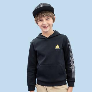 ANTA 安踏 男童儿童卫衣中大童春上新连时尚舒适帽套头衫130-175CM安踏童装