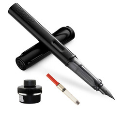 LAMY 凌美 德国进口 Al-star 恒星系列钢笔 黑色笔F尖+Z28吸墨器1支+T52非碳素笔用墨水瓶装50ml/瓶
