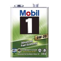 Mobil 美孚 1号 全合成机油 0W-20 SN级 4L