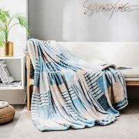 J.ZAO 京东京造 北欧风法兰绒毛毯 100*140cm