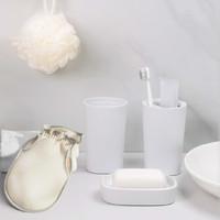 Quange 全格 简约洗漱套装 洗漱杯+牙刷收纳杯+皂盒