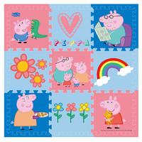 Peppa Pig 小猪佩奇 小猪佩奇(Peppa Pig)爬行垫宝宝婴儿 拼图拼接垫防滑爬行毯泡沫地垫 彩虹30*30*1cm9片带边条