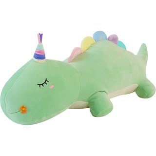 蓝白玩偶 卡通抱枕青青恐龙 80cm