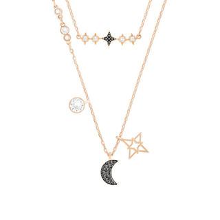 SWAROVSKI 施华洛世奇  项链女星月镂空套装饰品 玫瑰金
