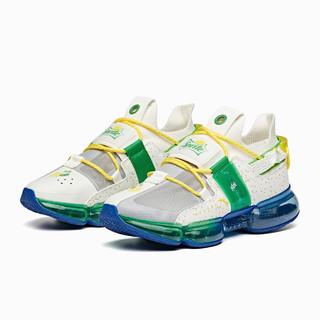ANTA 安踏 安踏女跑步鞋气垫鞋时尚网面耐磨休闲运动鞋女