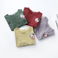 贝壳心雨夏季新款儿童短袖t恤 卡通印花休闲打底衫