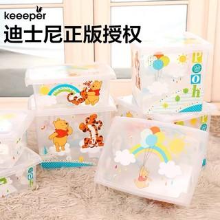 keeeper 迪士尼儿童玩具收纳箱宝宝零食衣物整理箱特大号塑料家用储物箱