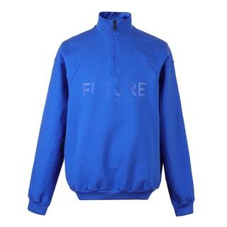VERSACE 范思哲 范思哲 VERSACE JEANS 奢侈品 男士棉纤立领字母长袖卫衣 蓝色 B7GSA7F5 30162 253 L码