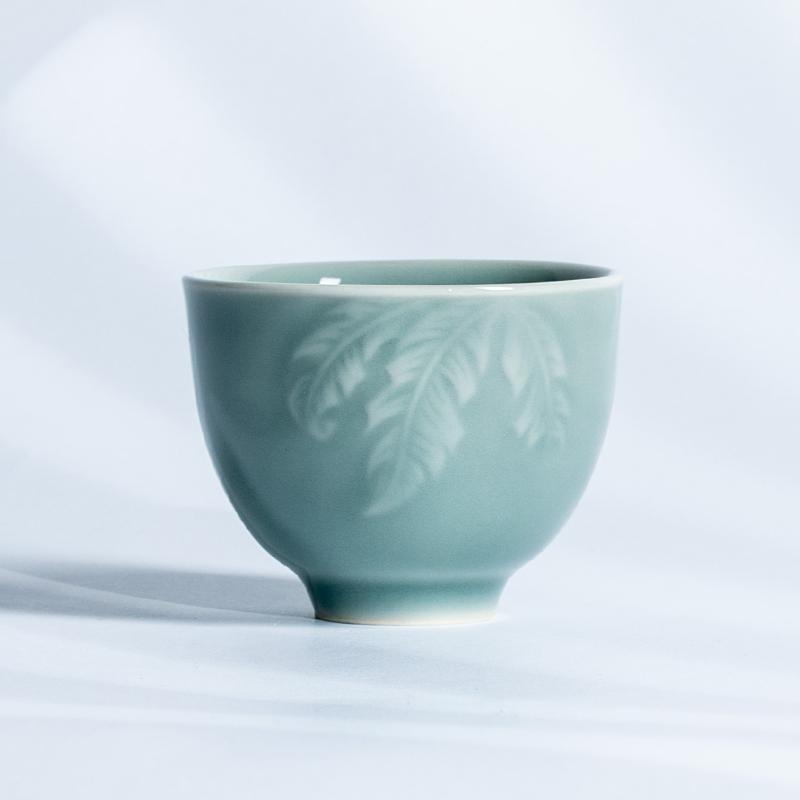 xigu 熹谷  龙泉青瓷 雨落芭蕉品茗杯