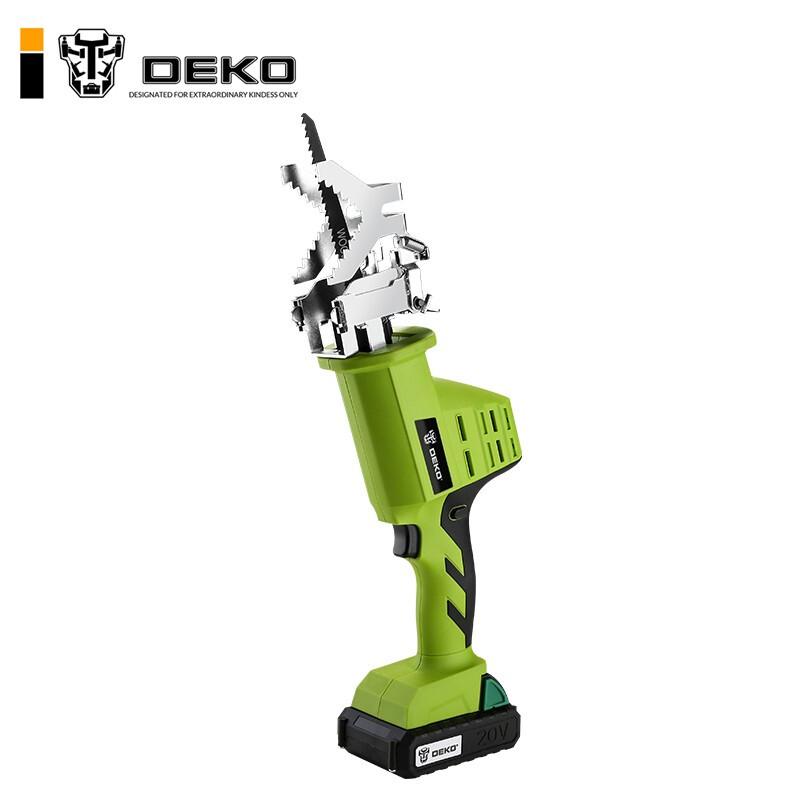 DEKO 代高 锂电往复锯充电式电动马刀锯家用小型大功率户外手提伐木电锯花园锯子 绿色