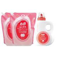 B&B 保宁 婴儿衣物洗涤剂 瓶装1500ml + 2100ml*2补充装