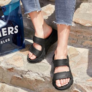 SKECHERS 斯凯奇 女鞋夏季新款厚底运动休闲沙滩拖鞋平底凉鞋女鞋子