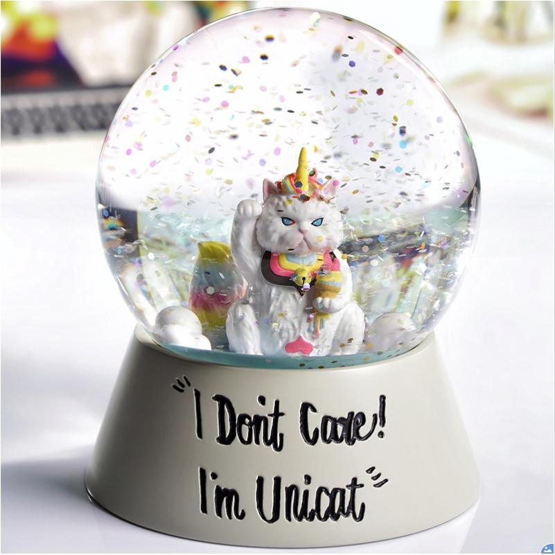 SOAP STUDIO 怪异猫Unicat独角兽猫假日时光系列水晶球生日