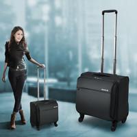 HANKE 汉客    (HANKE)万向轮拉杆箱男女商务旅行箱行李箱子登机箱18英寸黑色