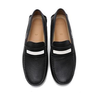 BALLY 巴利 巴利(BALLY)男士黑色牛皮橡胶底商务休闲户外休闲鞋单鞋 DRACON/200