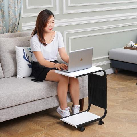 泉枫  边几可移动小茶几简约沙发边边柜北欧角几方几床头小桌子置物架桌移动电脑桌 N688-17-床头小桌子白色