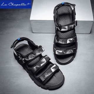 La Chapelle+凉鞋男夏季新款2021年休闲沙滩鞋外穿舒适百搭凉拖鞋