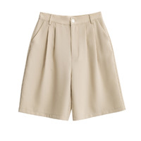 DEBRAND B5117-12WN-81 女士纯色中腰西装短裤