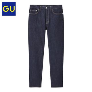 GU 极优 男装弹力修身牛仔裤(水洗产品)83cm时尚复古宽松长裤324078