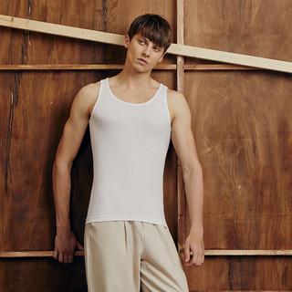 THREEGUN 三枪 纯棉背心男士打底T恤修身夏季全棉透气无袖健身运动紧身汗衫