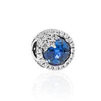 PANDORA 潘多拉 796358NTB 蓝色闪亮雪花925银串饰
