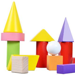 DALA 达拉 小学生数学形状教具 几何积木18颗粒