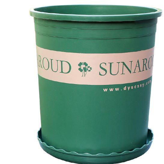 美耐佳 001 塑料加仑盆 绿色不含托盐 16*17.5cm