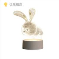 呱呱鸟  创意LED氛围小夜灯 3D兔