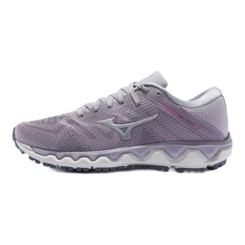 Mizuno 美津浓 Wave Horizon 4 女子跑鞋 J1GD202643 粉色/白色 37