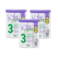 bubs 贝儿 婴幼儿有机草饲牛奶粉3段 800g *3罐