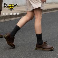 Drmartens马汀博士1461经典疯马皮英伦复古3孔马丁鞋男女款皮鞋 深棕色 39