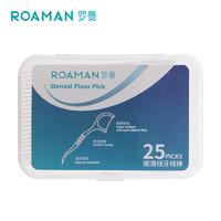 ROAMAN 罗曼 罗曼(ROAMAN)细滑线牙线棒 25支装一盒