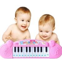 移动专享:The North E home 北国e家 儿童音乐  弹奏乐器玩具 粉色电子琴
