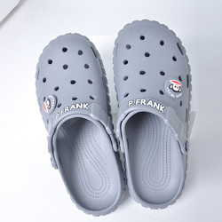 Paul Frank 大嘴猴 大嘴猴外穿运动洞洞鞋沙滩凉拖鞋防滑夏天情侣家居拖鞋男士凉鞋