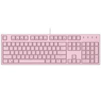 珂芝(KZZI)K104机械键盘游戏樱桃cherry轴电脑外设笔记本有线键盘带数字办公自营104键白色背光粉色红轴