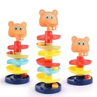 移动专享:菲利捷 宝宝轨道滑球塔转转乐 四层投篮+3个球