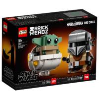 LEGO 乐高 LEGO乐高玩具超级英雄系列曼达洛人与尤达宝宝75317
