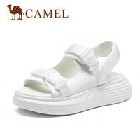 CAMEL 骆驼 A12296650 女士松糕底凉鞋 白色 39
