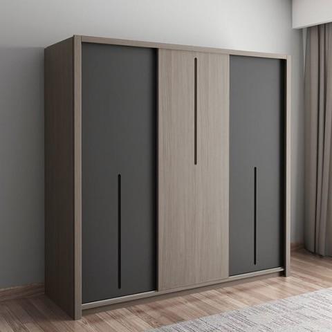 MUYUE 木月 雅致 推拉门衣柜组合 单衣柜 1.6m(三门)