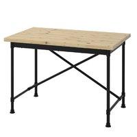 KULLABERG 乐维 书桌 松木, 黑色 110x70 厘米