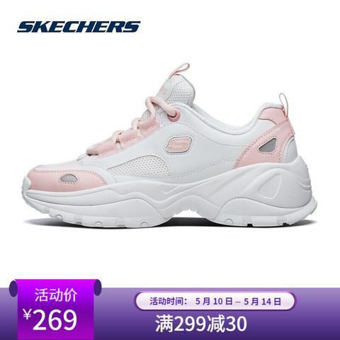 移动端:SKECHERS 斯凯奇 Skechers斯凯奇新品女鞋小白鞋运动鞋